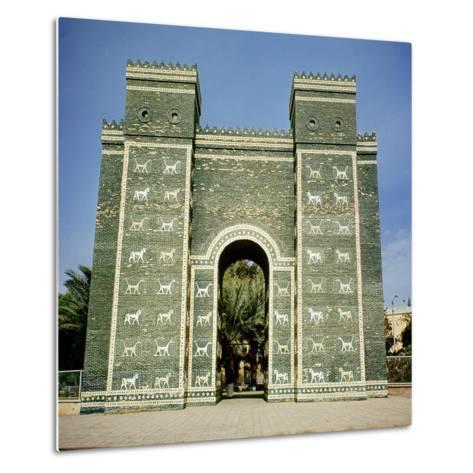 The Ishtar Gate, Babylonian, C.580 Bc--Metal Print