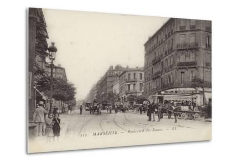 Postcard Depicting the Boulevard Des Dames--Metal Print