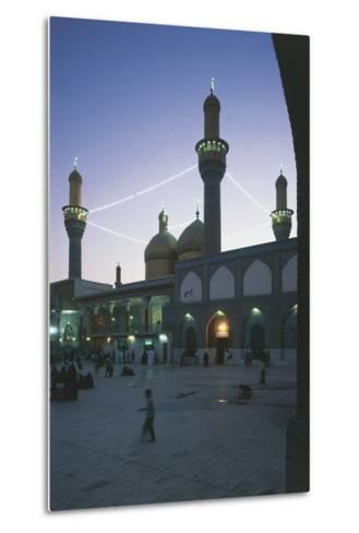 Al-K?Dhimiya Mosque at Night, Baghdad--Metal Print