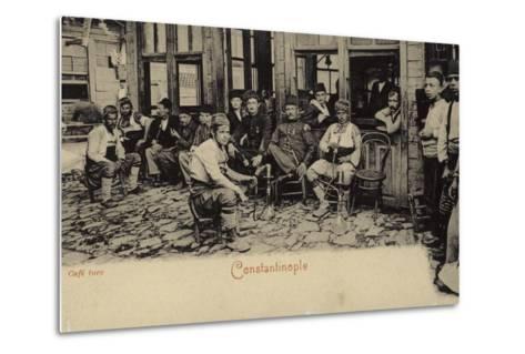 Turkish Coffee House, Constantinople, 1898--Metal Print