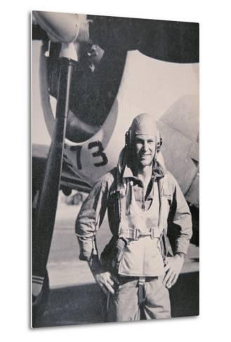 Robert S. Johnson, WW2 American Air Ace, 1943-5--Metal Print