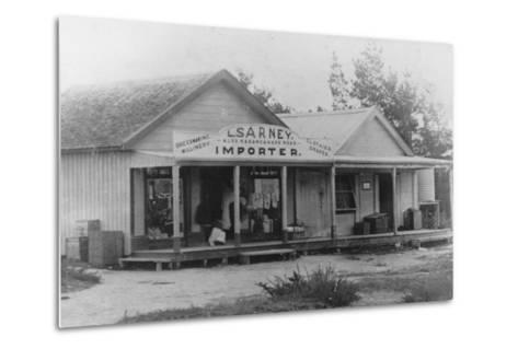Exterior of a Dressmaker's Shop, New Zealand--Metal Print
