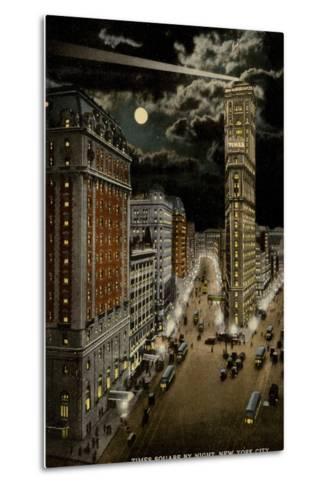Times Square by Night, New York City, USA--Metal Print