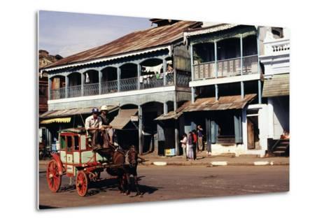 Street Scene, Mamyo, Myanmar--Metal Print