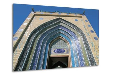 Entrance, Bab Alquiblah, to the Sanctuary Mosque Al-K Dhimiya, Baghdad--Metal Print