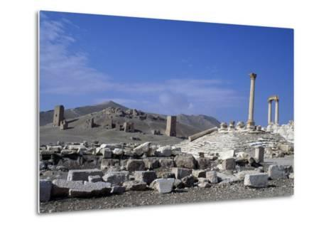 Diocletian's Camp and Tower Tombs, Palmyra--Metal Print
