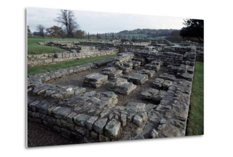 Ruins of Chesters Roman Fort, Hadrian's Wall--Metal Print
