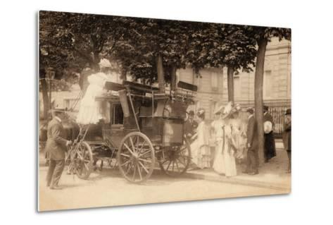 Leaving for the Races, 1890--Metal Print