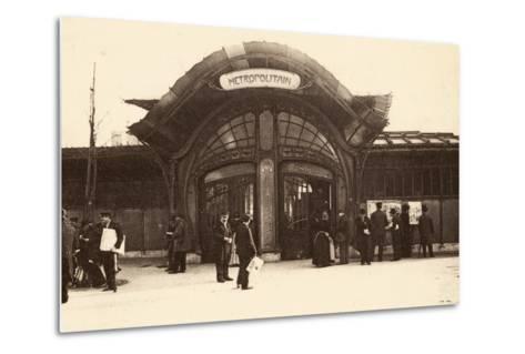 M?tropolitain Station, Place De La Bastille, 1900--Metal Print