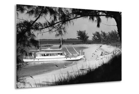 Cabbage Beach on Paradise Island, C.1955--Metal Print