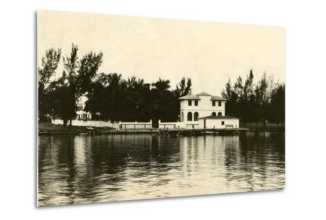Al Capone''s Home on Palm Island, Miami Beach, C.1928--Metal Print