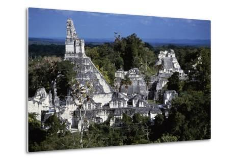 View of Temple V, Tikal National Park--Metal Print