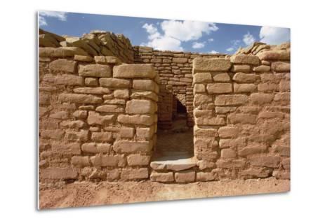 Remains of Pueblo Indian Dwellings, Built 11th-14th Century--Metal Print
