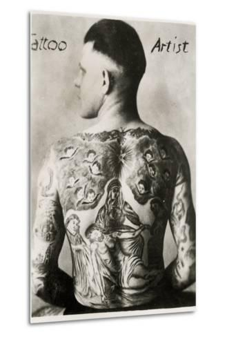 Tattooed Man, New York--Metal Print