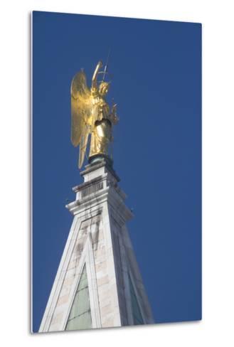 Statue Atop St Mark's Campanile, St Mark's Square, Venice--Metal Print