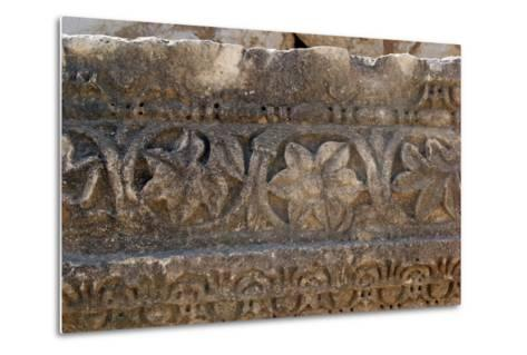Decorative Carved Border Design, Patara, Turkey--Metal Print