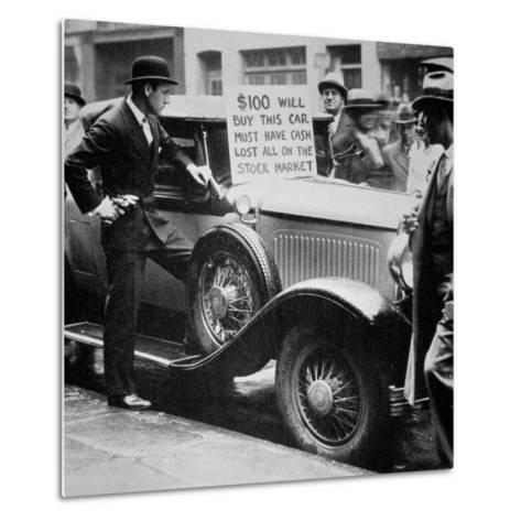 Man Selling His Car, Following the Wall Street Crash of 1929, 1929--Metal Print