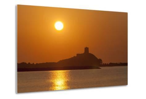 Nora Sunrise over Harbour, Near Pula, Cagliari Province, Sardinia, Italy, Mediterranean, Europe-John Miller-Metal Print