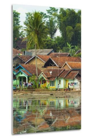 Traditional Homes and Situ Cangkuang Lake at This Village known for its Hindu Temple- Rob-Metal Print