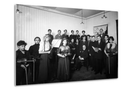 A Group of Students at the St. Petersburg Conservatoire, 1912--Metal Print