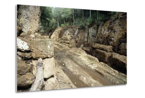 Way of Underworld, Etruscan Necropolis of Banditaccia--Metal Print