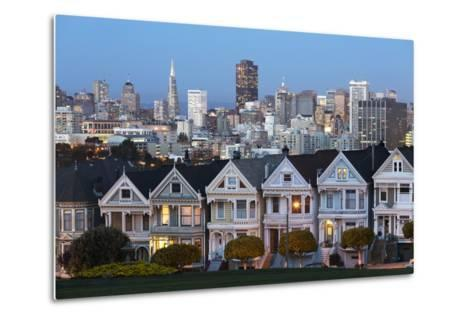 The Painted Ladies and the City at Dusk-Stuart-Metal Print
