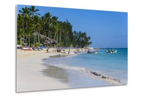 Beach of Bavaro, Punta Cana, Dominican Republic, West Indies, Caribbean, Central America-Michael-Metal Print