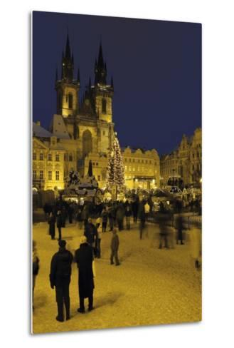 Old Town Square and the Church of Our Lady before Týn, Prague, Czech Republic--Metal Print