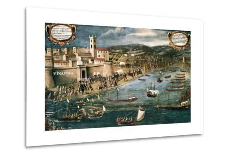 Embarkation of Moriscos in the Harbor of Vinaroz, Spain-Pere Oromig and Francisco Peralta-Metal Print