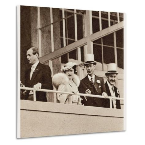 The Coronation Derby: Watching the Race from the Royal Box--Metal Print