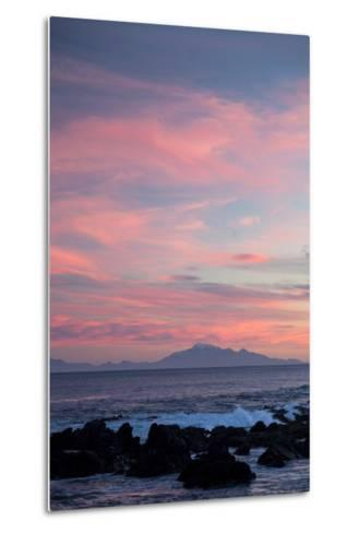 Kaikoura Ranges in South Island at Sunset from Wellington, North Island, New Zealand, Pacific- Nick-Metal Print