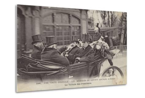 Visit of Members of the London County Council to Paris, 1906--Metal Print