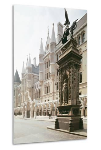 Law Courts, London: Exterior View, Designed by George Edmund Street--Metal Print