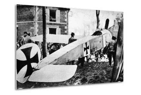 The Fokker's Day Past: One of the Much-Talked-About German Monoplanes a Captive in the French Lines--Metal Print