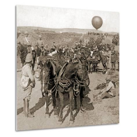 Balloon Corps Transport, with Lord Roberts' Army - Advance on Johannesburg, South Africa, 1901--Metal Print