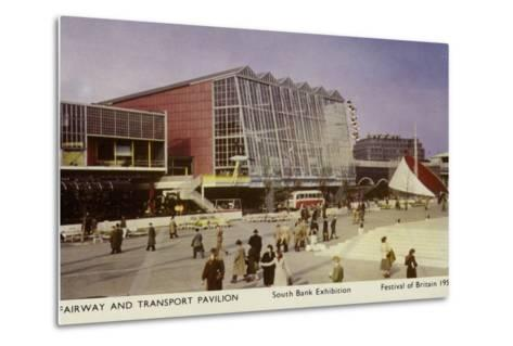 Fairway and Transport Pavilion, Festival of Britain, South Bank Exhibition, London, 1951--Metal Print