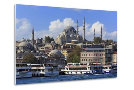 Sulemaniye Mosque, Eminonu and Bazaar District, Istanbul, Turkey, Europe- Richard-Metal Print
