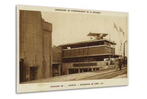 Aluminium Pavilion, International Exposition, Liege, Belgium, 1830--Metal Print