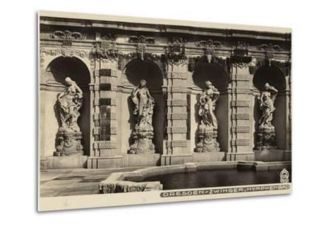 Postcard Depicting the Statues of Nymphs in the Grounds of the Zwinger--Metal Print