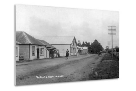 The General Store and Coronation Hall in the Centre of Waipu--Metal Print