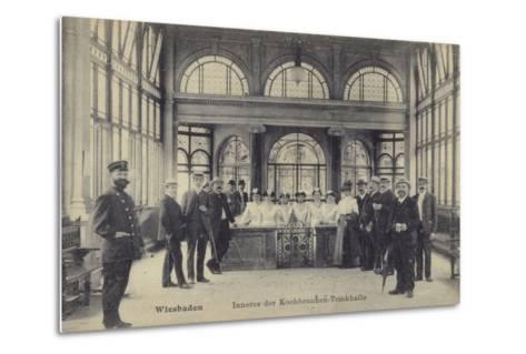 Pump Room of the Kochbrunnen Thermal Spa, Wiesbaden, Germany--Metal Print