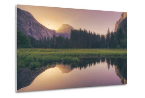 Magical Morning Light at Half Dome - Yosemite Valley-Vincent James-Metal Print