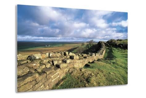 View of Hadrian's Wall, Walltown Crags, Hadrian's Wall--Metal Print