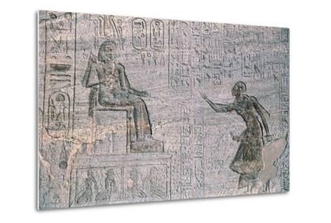Small Temple of Hathor, Dedicated to Queen Nefertari, Abu Simbel--Metal Print