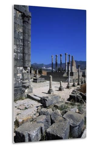 Ruins of Capitoline Temple, Roman City of Volubilis--Metal Print