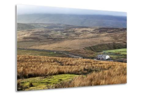 Isolated House by the Road in Garsdale Below Baugh Fell-Mark-Metal Print