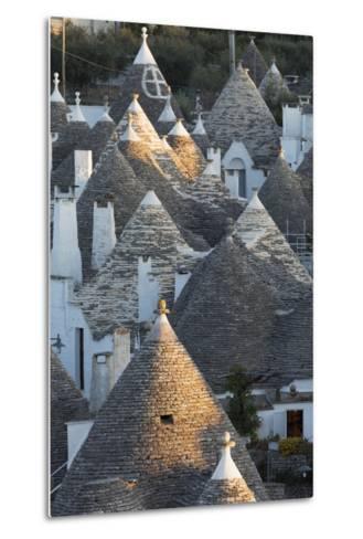 Rooftops of Traditional Trullos (Trulli) in Alberobello-Martin-Metal Print