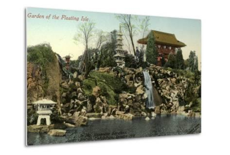 Garden of the Floating Isle in the Japanese Gardens, Japan-British Exhibition, London 1910--Metal Print