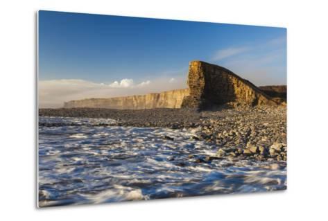 Nash Point, Glamorgan Heritage Coast, Wales, United Kingdom, Europe-Billy-Metal Print