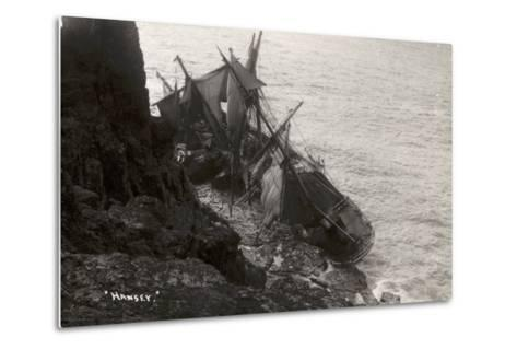 Wreck of the Hansy, Housel Bay, the Lizard, Cornwall, November 1911--Metal Print
